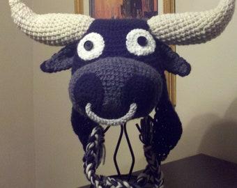 Bull Crochet Hat