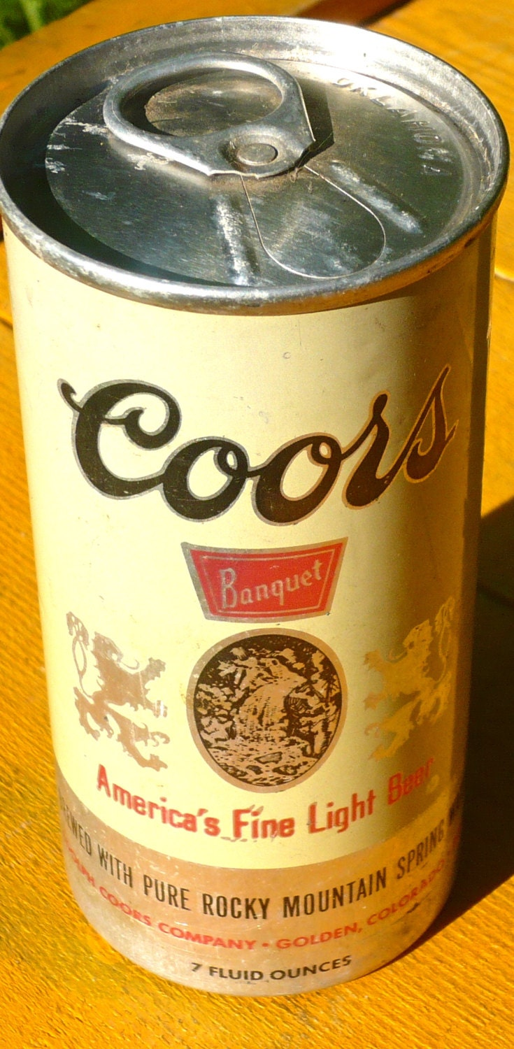 Vintage Coors Beer Can Oklahoma Coors Beer Can Small Beer Can