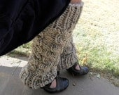 Oatmeal Knitted  Cabled Leg Warmers