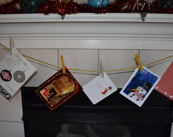Silver and Gold Christmas Card Holder