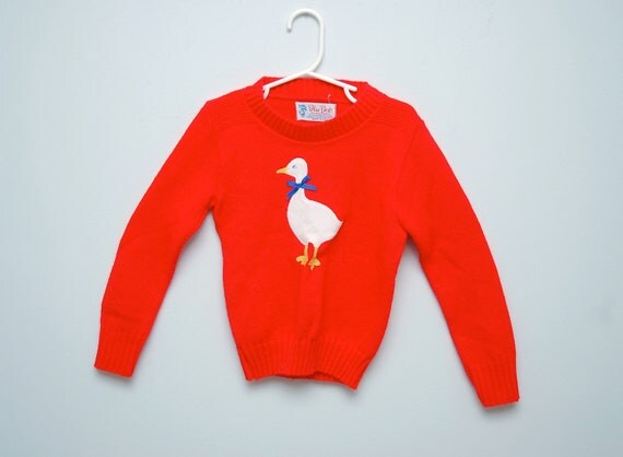 Vintage red goose sweater