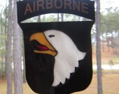 101 AIRBORNE STAINED GLASS crest