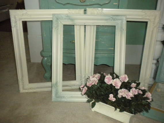 Upcycled Ornate Frames,Set of 3,Shabby chic,French Country,Eclectic,Victorian,Cottage,Paris Apartment