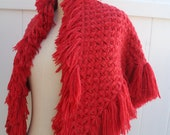 Red Cape Wraps Shawls Knit Red Ponchos Women Poncho Red Scarf  Chunky Sparking Red Poncho Winter Fashion - By PIYOYO