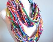 Reserved for Ashley -- Technicolor Gypsy Infinity Scarf Bright Colors  Upcycled Urban Nomad Circle Scarf Winter Accessories