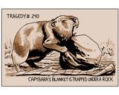 Tragedy 240: Capybara Blanket Print