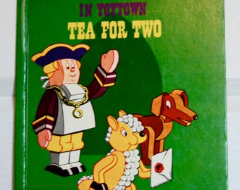 Vintage Children's Book, Larry the Lamb Tea for Two