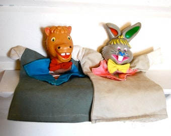 Vintage Pair of Animal Puppets
