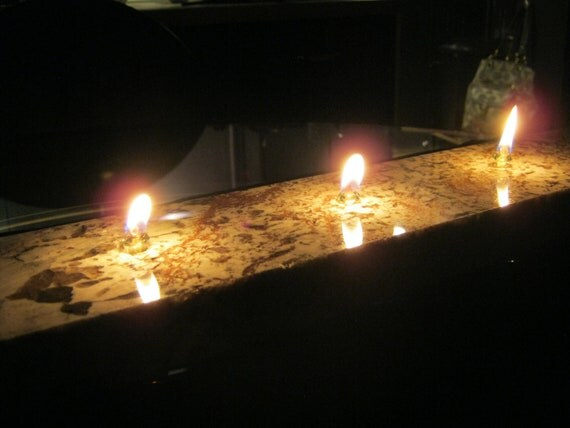 4 Wick Granite Oil Candle By Cdandllhomedecor On Etsy