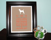 DIY Personalized Pet Print Silhouette - Dog or Cat Custom Memorial or Remembrance Printable Art
