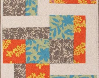 Modern Quilt Pattern, Half and Half, PDF