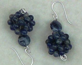 Sodalite Ball Earrings
