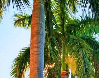 Royal Palm Trio II, Palm Trees, Palm Tree Art, Island Art, Coastal Decor, Beach Tropical Art  Prints Various Sizes, also Available on Canvas