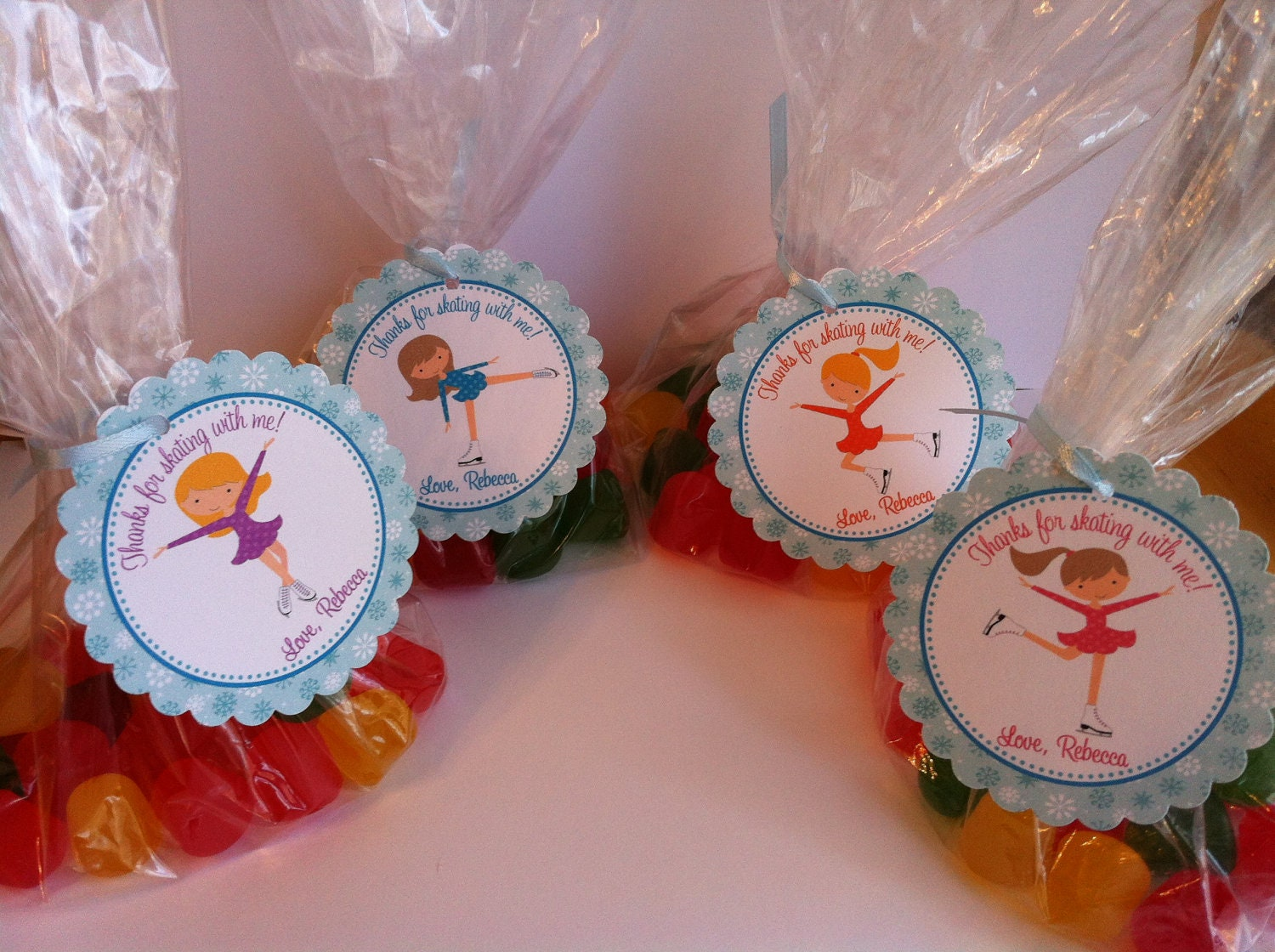 Roller skating party favors - Ice Skating Party Favor Bags