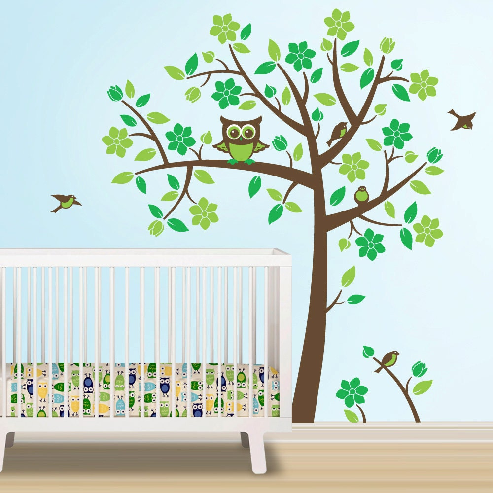 owl tree decal owl nursery theme tree wall decal to match