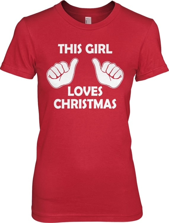 This Girl Loves Christmas Shirt S-2XL
