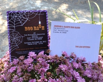 Boo Bash Halloween Party Invitation (Post Card or Regular) Customizable For Any Theme