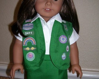 18 Inch Doll Clothes - Junior Girl Scout Uniform