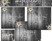 Etsy Shop Banner Set - Banners and Avatars - Boutique Wood Set