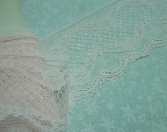 1 yard of 3 inch Light Pink Chantilly Lace trim for baby girl, bridal, wedding, baby, lingerie by MarlenesAttic - Item A2
