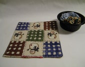 Travel Size Fabric Snowman Tic Tac Toe game