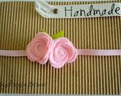 Felt flower headband -- Small felt rose headband