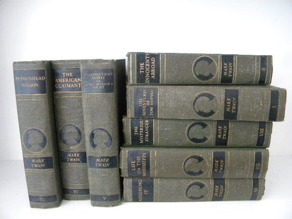 Mark Twain Antique Book Set 1920 S Collection