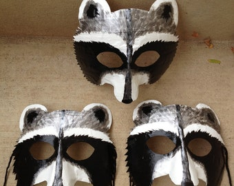 raccoon mask, raccoon costume