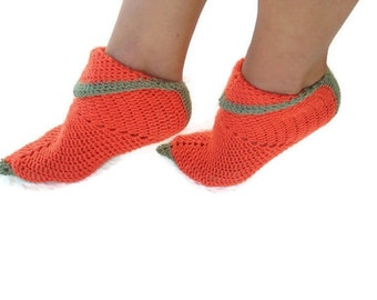 FREE SHiPPiNG Orange and green one Elf slippers,peter pan shoes