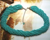 Turquoise Blue Multi Strand Necklace