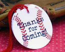 Baseball Themed Party Favor Tags