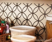 Sample only - Kitchen backsplash, pantry or bathroom upgrade - vinyl interlocking circle design -