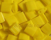 TL404 Miyuki Tila 5 gram in bead pot flat two hole yellow beads