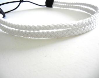 Double Strand White Rope Headband