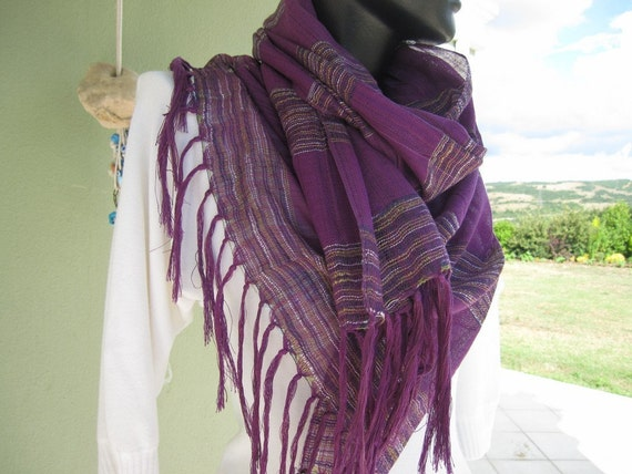Purple scarf stripe linen gauze fabric long scarves 2012 for woman man unisex summer,Turkish Scarf