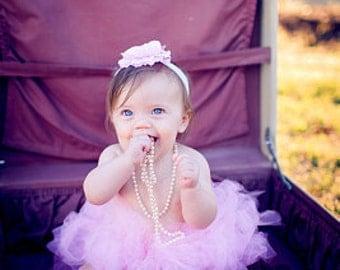 Princess Pink Tutu Set with Matching Silk Headband Photography Prop Newborn-2T