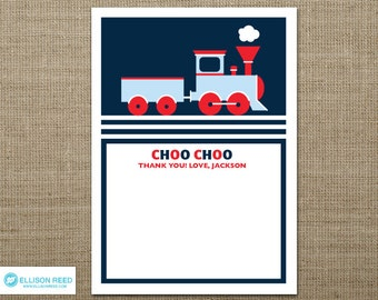 Train Printable - Train Birthday - Train Thank You Note - choo choo - printable party - 2nd birthday - first birthday - boy birthday - red