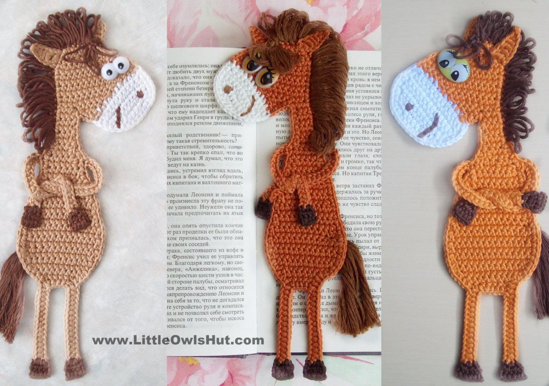 025 Horse Ge-Ge Bookmark Amigurumi Crochet Pattern