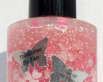 Heart Of The Matter: Valentines Day Nail Polish, Glitter, Breast Cancer Awareness, Glitter Topper, Lacquer, Valentine, Nails, Glitter Polish