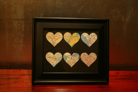 Custom Heart Maps Mixed Media