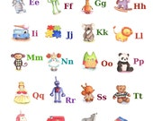 ABC Alphabet Poster A3 Print, Toy Alphabet