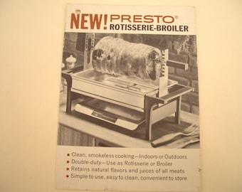 Presto Rotisserie Broiler Product Card Vintage Kitchenalia
