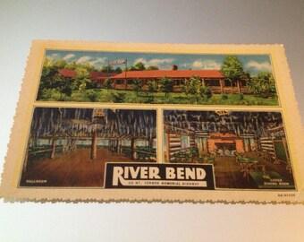 Vintage Postcard River Bend Virginia Resort Rare Beauty Ephemera