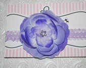 Flower Headband, Purple Headband- Royal Rose - Perfect for props, newborns, babies, toddlers. children, teens and adults