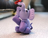 Purple Elephant with a butterfly