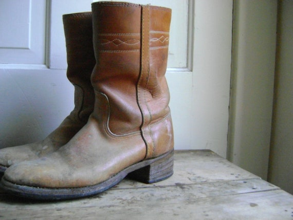 Vintage Mid Calf Campus Boots/Womens Size 9 1/2