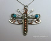 SALE Dragonfly Pendant