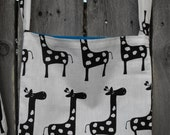 Giraffe Bag with Blue Liner