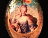 30x40 Marie Antoinette Glass Cabachon