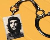 Che Guevara-  Keychain Pendant Polymer Clay - OOAK